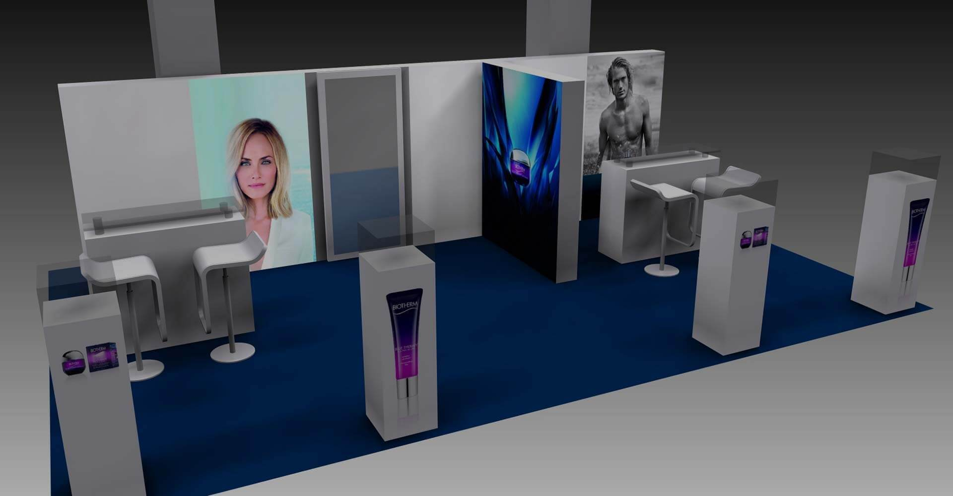3D Visualisierung Messestand Biotherm